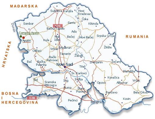 auto karta vojvodine rs Camping Apatin auto karta vojvodine rs